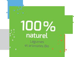 100% naturel légumes et aromates Bio